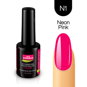 Lakier Hybrydowy UV&LED COLOR a.t.a professional nr N1 15 ml - NEON PINK