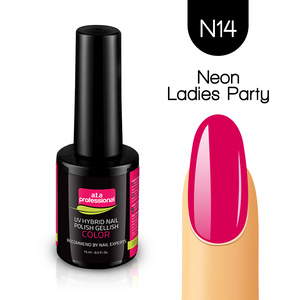 Lakier Hybrydowy UV&LED COLOR a.t.a professional nr N14 15 ml - NEON LADIES PARTY