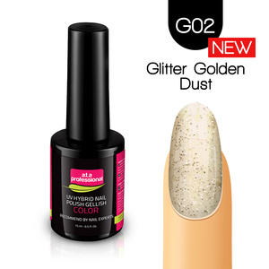 Lakier Hybrydowy UV LED COLOR a.t.a Professional™ G02 15 ml - Glitter Golden Dust