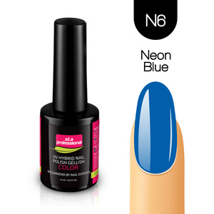 Lakier Hybrydowy UV&LED COLOR a.t.a professional nr N6 15 ml -  NEON BLUE
