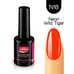 Lakier Hybrydowy UV&LED COLOR a.t.a professional nr N18 15 ml - NEON WILD TIGER