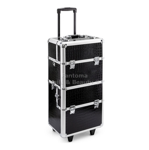 Beauty Trolley Case  MAX - BLACK CROCIDLE