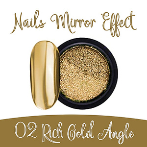 Nails Mirror Effect 02 Rich Gold Angle 3g