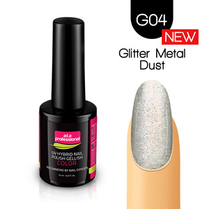 Lakier Hybrydowy UV LED COLOR a.t.a Professional™ G04 15 ml - Glitter Metal Dust