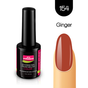 Lakier Hybrydowy UV&LED COLOR a.t.a professional nr 154 15 ml - GINGER