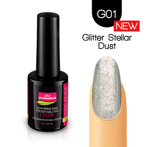 Lakier Hybrydowy UV LED COLOR a.t.a Professional™ G01 15 ml - Glitter Stellar Dust