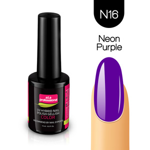 Lakier Hybrydowy UV&LED COLOR a.t.a professional nr N16 15 ml NEON PURPLE