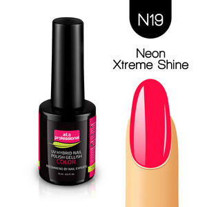 Lakier Hybrydowy UV&LED COLOR a.t.a professional nr N19 15 ml - NEON XTREME SHINE