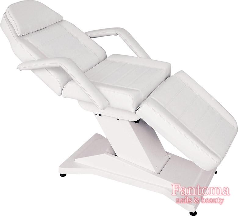 Fotel Kosmetyczny Adela 3 Silniki Elektryczny Biały Fantoma